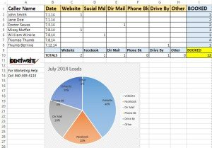 dental lead tracking spreadsheet for excel