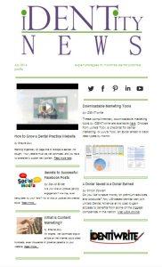 july newsletter dental marketing