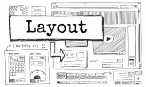 website layout for homepage design
