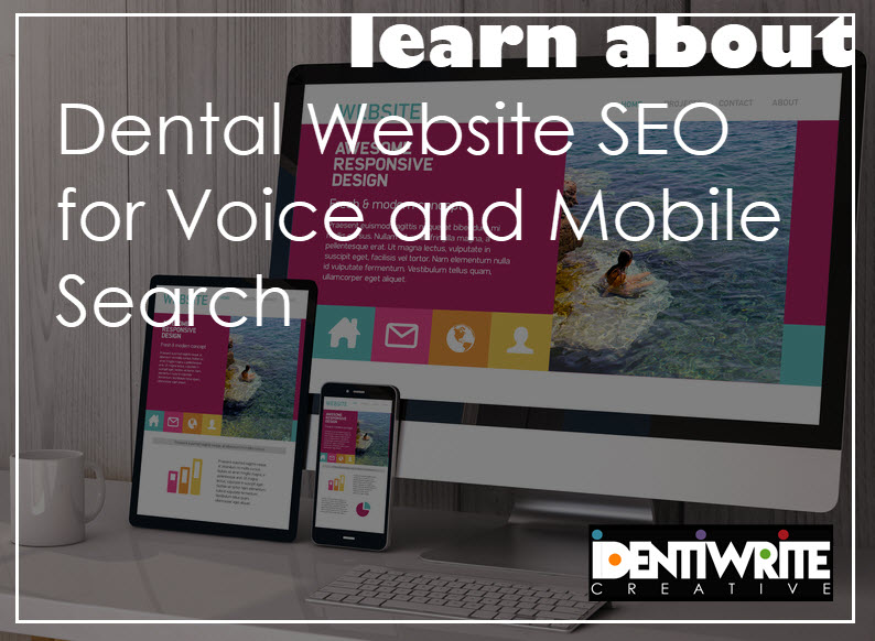 responsive dental website voice search mobile website
