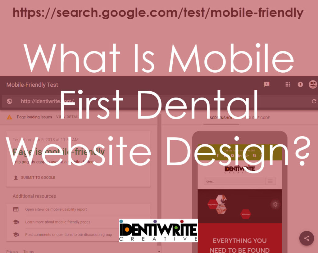 mobile first dental website design
