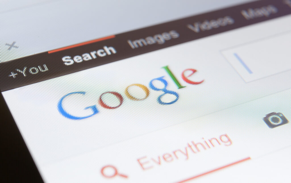 image of search on google