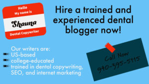 Hire a Dental Blogger